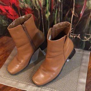 Vintage Naturalizer Zipper Boot Tan Brown 9M